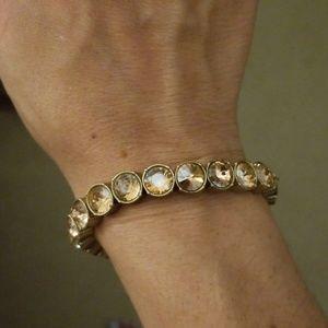 Stella & Dot Vida Champagne stretch bracelet